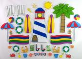 A Day at the Beach Deluxe Felt Board Activity Set