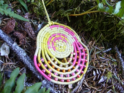 Alaska Basket Coiled Necklace Custom Made