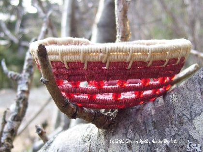 Alaska Basket Custom Coiled Bird's Nest