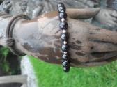 Garnet and Sterling Silver Bracelet