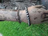 Hematite and Sterling Silver Bracelet