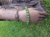 Jade and Sterling Silver Bracelet