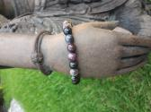 Mixed Tourmaline and Sterling Silver Bracelet