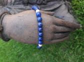 Lapis lazuli and 14k solid gold bracelet