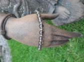 Smokey Quartz and Sterling Silver Bracelet