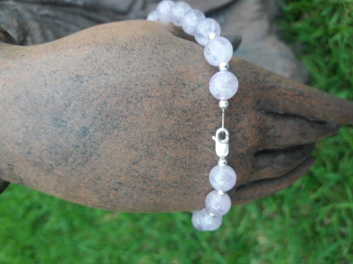 Cape Amethyst and Sterling Silver Bracelet