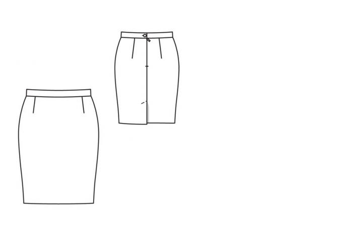 Basic Skirt Pattern with waistband