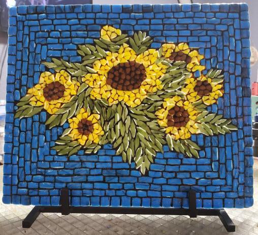Beautiful Mosaic Sunflowers