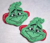 Grinch Hair Clips