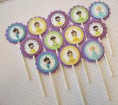Little Princesses Cupcake Toppers