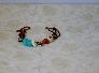 Copper Nugget and Bone Bracelet