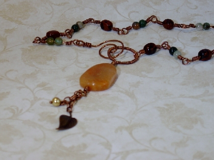 Jasper and Obsidian Necklace