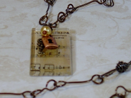Music Tile Necklace