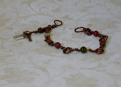 Fancy Jasper and Copper Bracelet