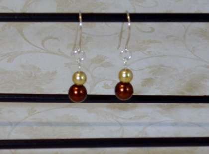 Gold and Chocolate Pearls
