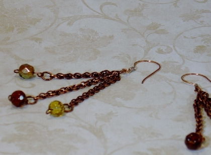 Copper and Crystal Dangles