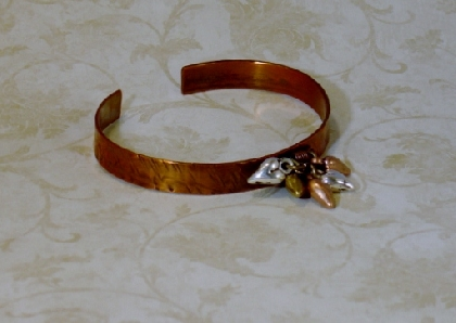 Copper Hearts Bangle