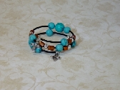Turquoise and Tubing Bracelet
