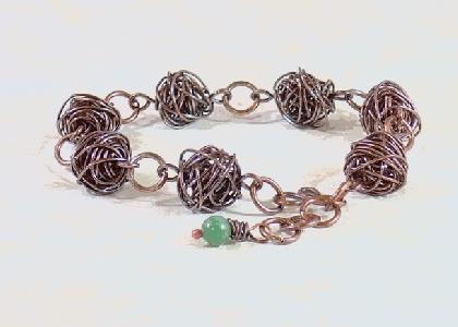 Wire Bead Bracelet