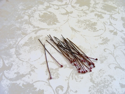 Balled Copper Head Pins