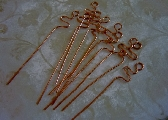 Copper Squiggle Headpins