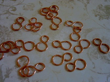Hammered Copper Links