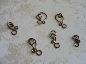 Antique Copper Hook Clasp