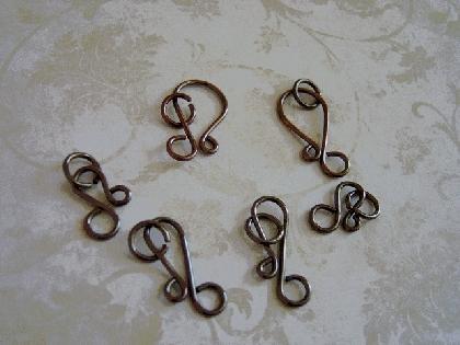 Antique Copper Hook Clasp