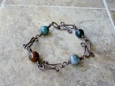 Fancy Jasper Copper Bracelet