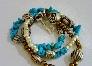 Howlite Chip And Charm Bracelet
