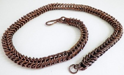 Copper Box Chain Necklace