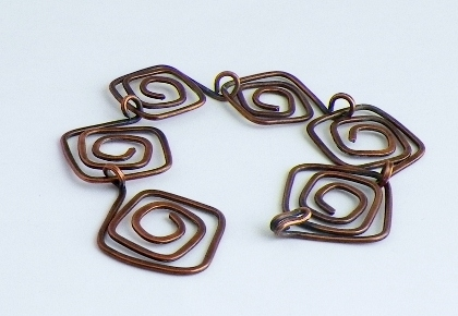 Copper Square Spirals
