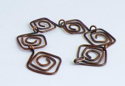 Copper Square Spirals
