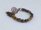 Copper and Zebra Jade Bracelet