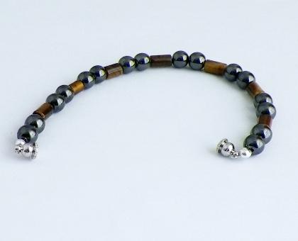 Magnetic Hematite and Tiger Eye Bracelet