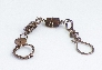 Brown Glass and Copper Bracelet