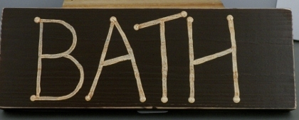 Handcrafted Rustic Wood Bath Sign