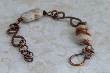 Porcelain and Copper Bracelet