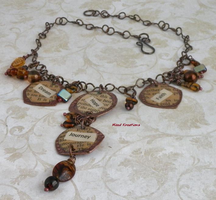 Hammered Bottle Cap Necklace