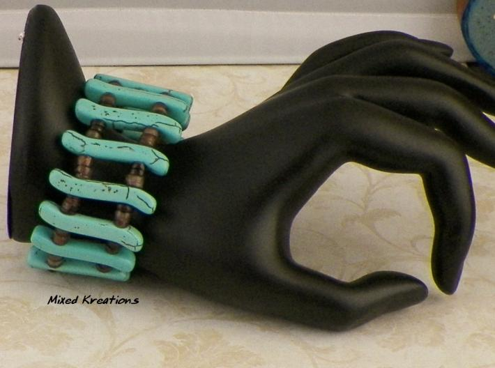Faux Turquoise Memory Wire Cuff