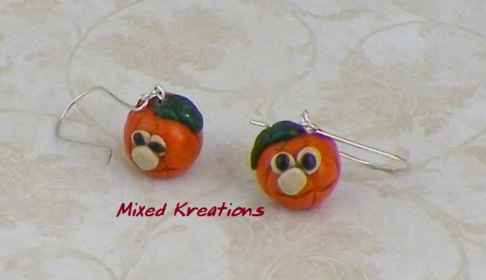 Dangling Jack O Lantern Earrings