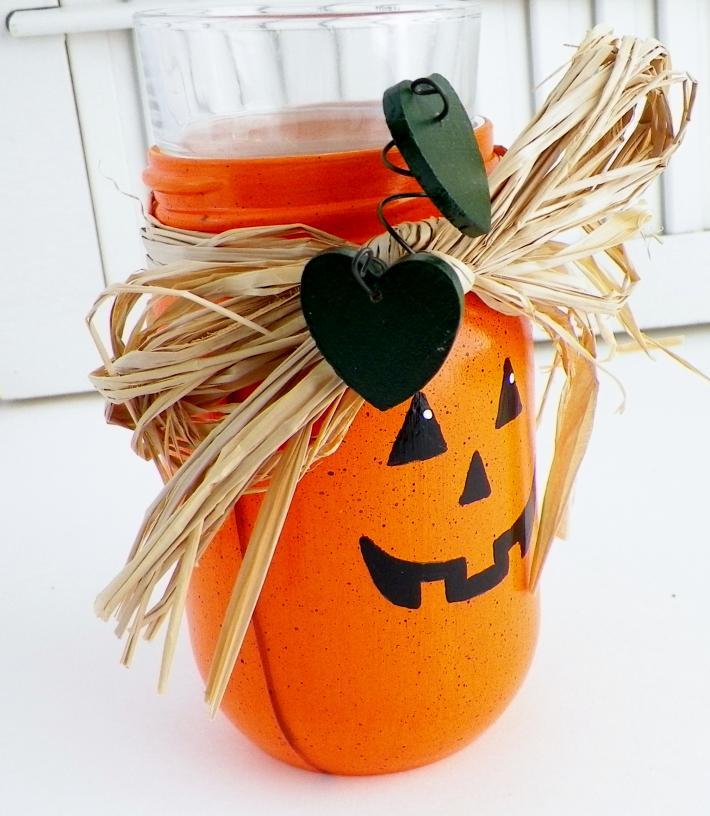 Jack O Lantern Candle Holder