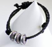 Rondelles and Sliding Knot Bracelet