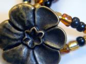 Earth Tones and Button Flower Bracelet