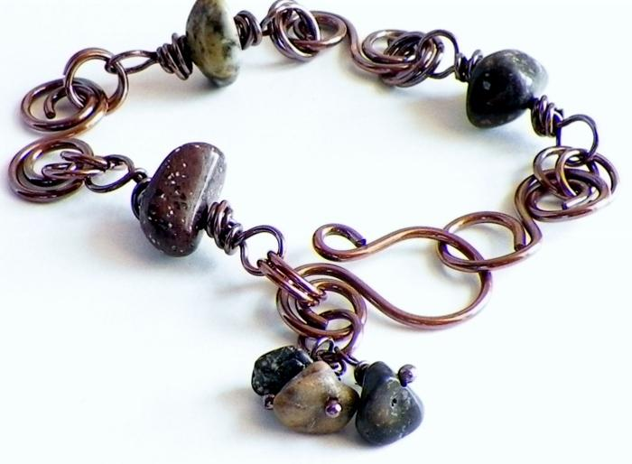 Copper and Himalayan Stone Bracelet