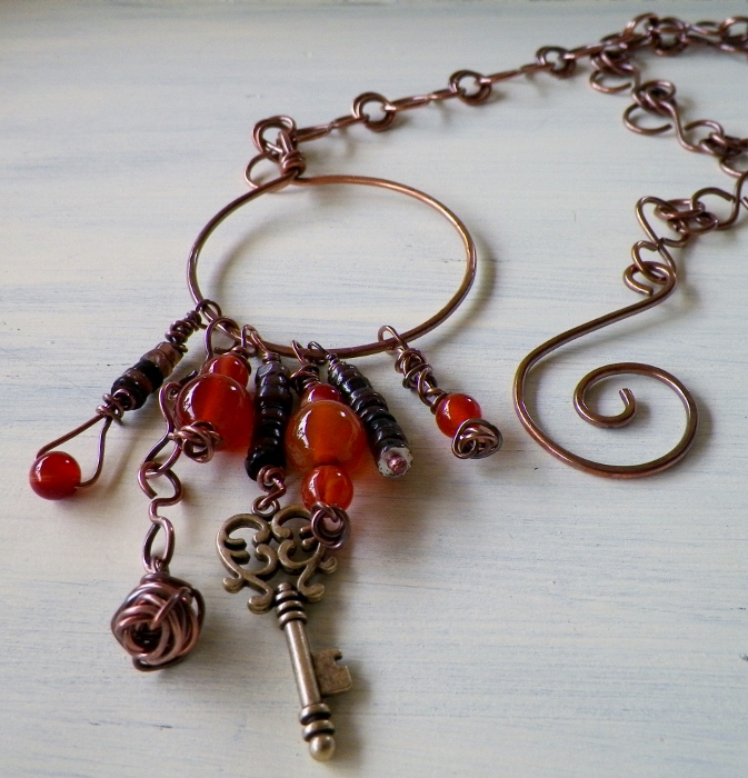 Front Clasp Charm Necklace