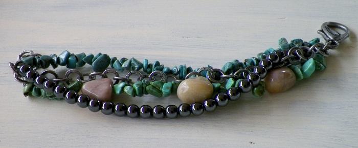 handcrafted multi strand bracelet