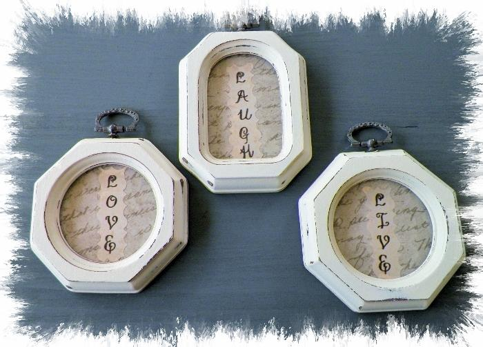 Rustic Live Love Laugh Frames