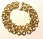 Gold Celtic Labyrinth Chainmaille Bracelet