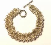 Gold and Silver Byzantine Bar Bracelet